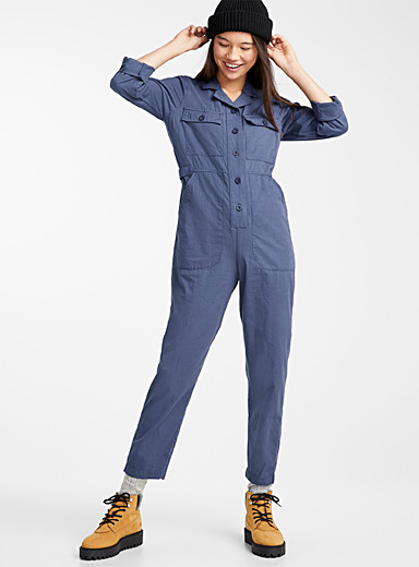 Steel blue jumpsuit