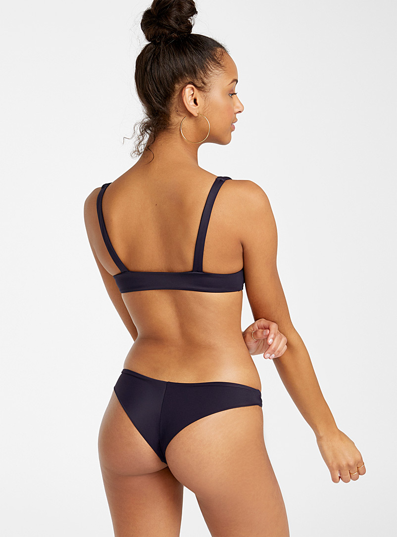 RVCA Marine Blue Midnight navy cheeky bottom for women