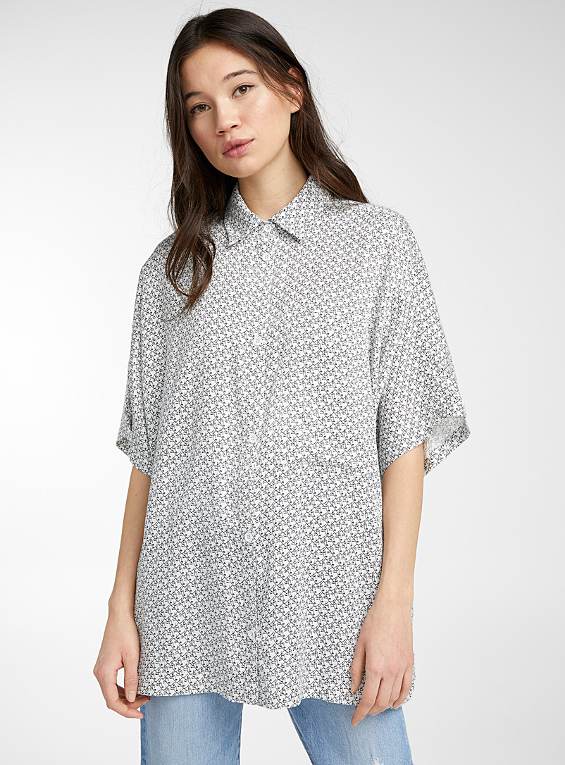 RVCA Patterned Black Thousand faces shirt for women