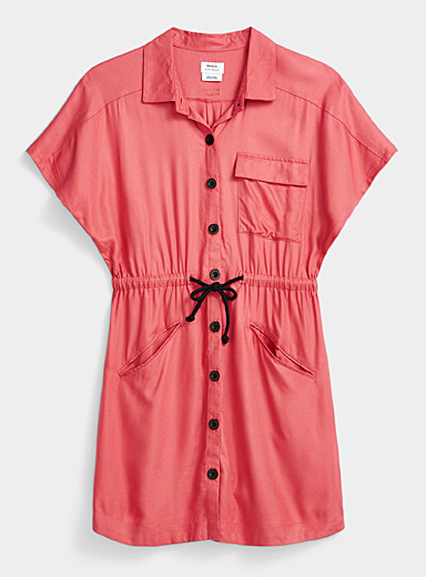 RVCA Red Utility shirtdress for women
