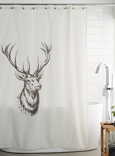 Antler shower curtain