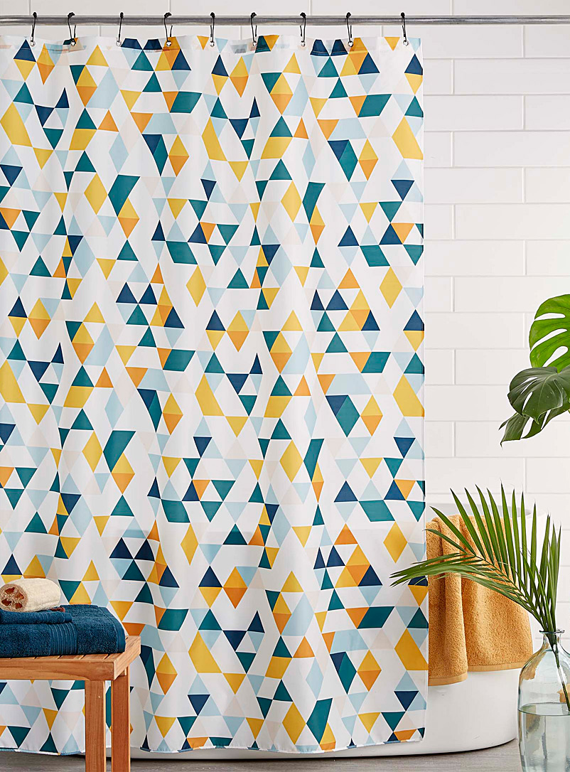 Simons Maison Assorted Geo colour shower curtain