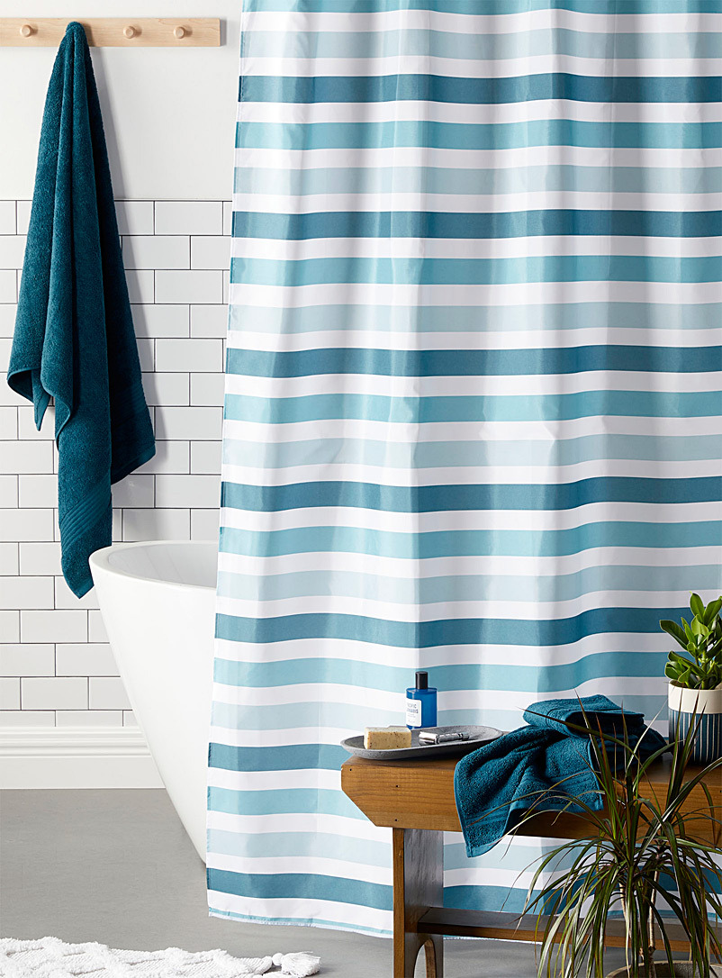 Nautical stripe shower curtain