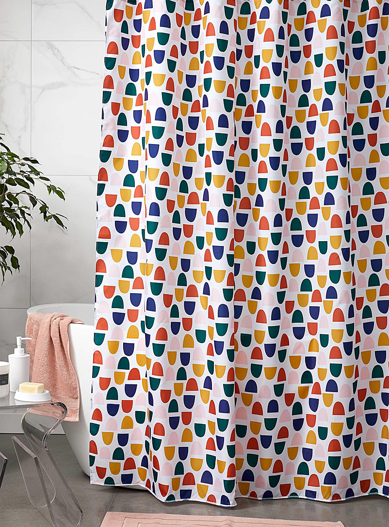 Simons Maison Assorted Multicolour pebble shower curtain