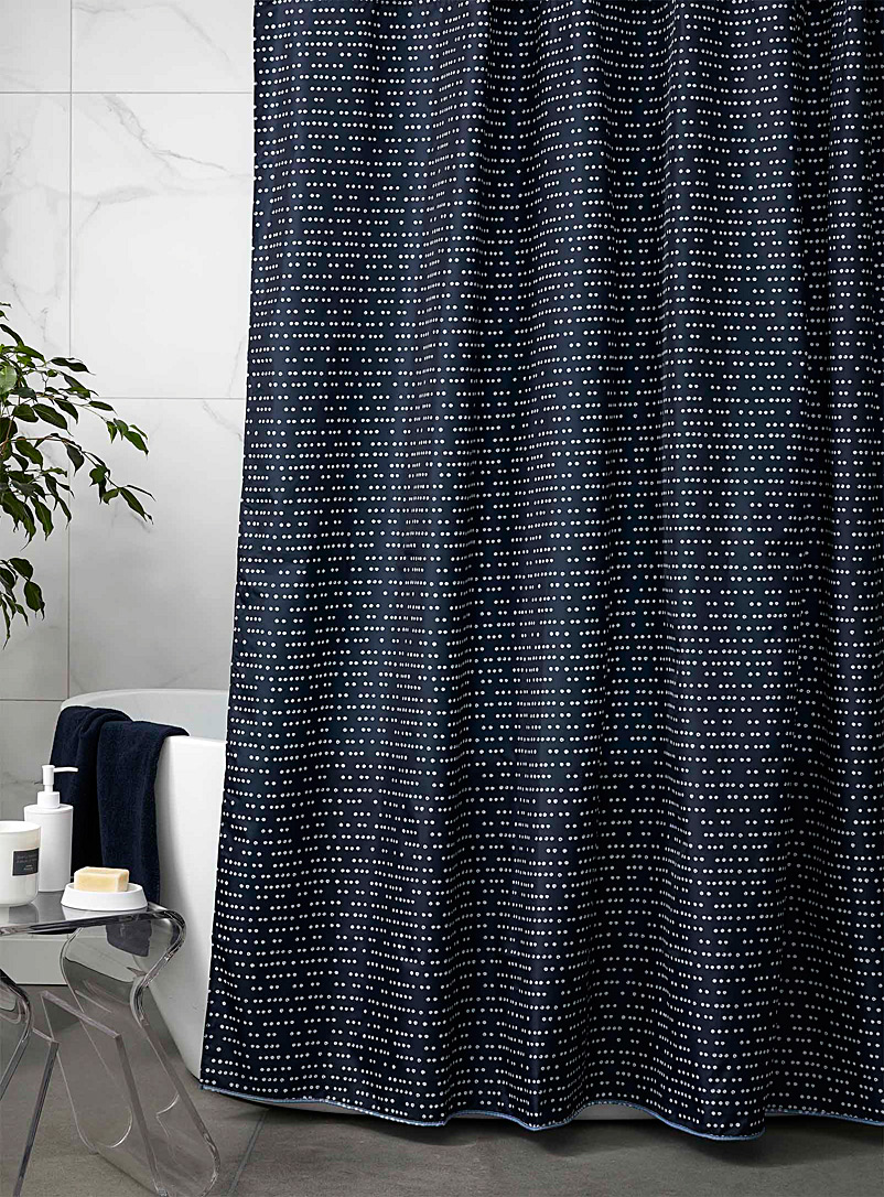 Simons Maison Patterned Blue Painted dot shower curtain
