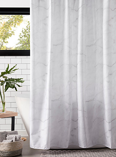 Mottled marble shower curtain
