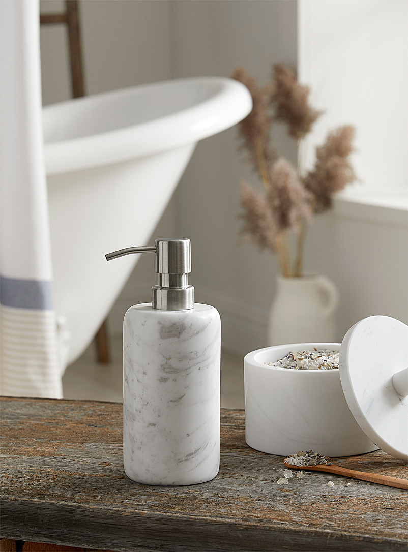 Simons Maison White Genuine marble lotion dispenser