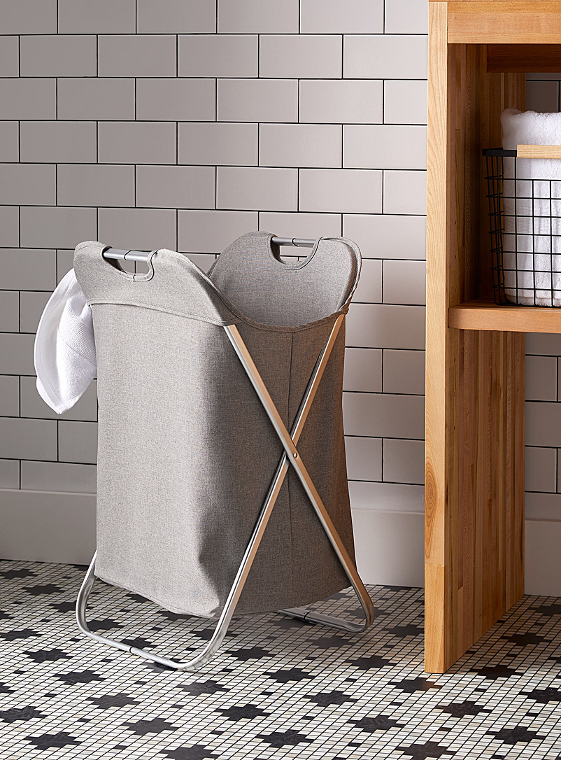 Stainless steel laundry hamper - Baskets & Storage
