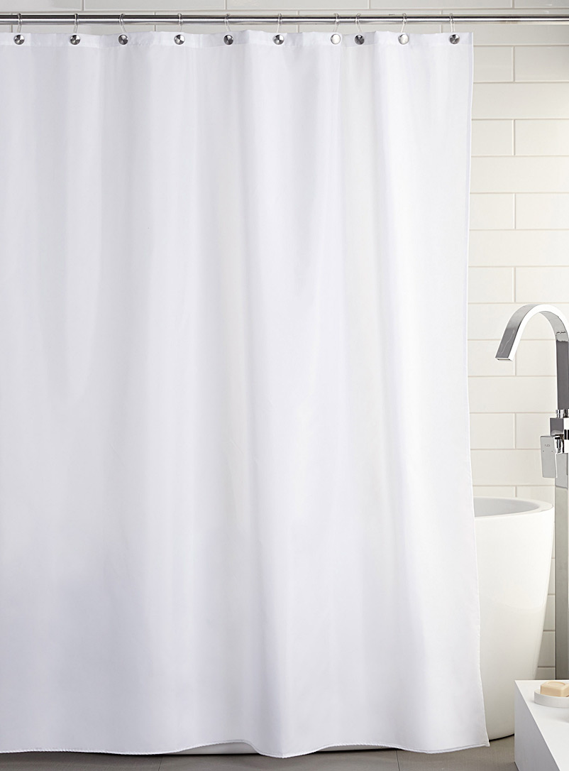 White polyester shower lining