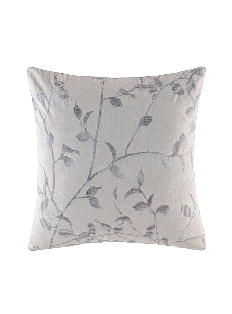 Kas Australia Grey Ophelia embroidered Euro pillow sham