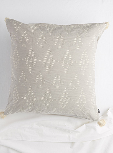 Quilted diamond jacquard Euro pillow sham