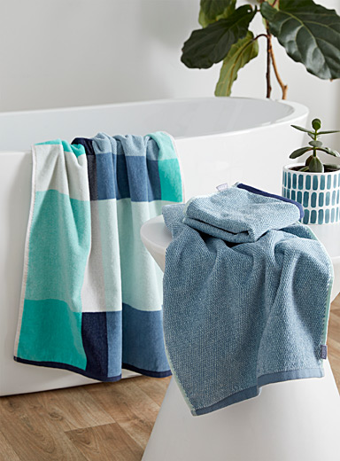 Ocean blue pure cotton towels