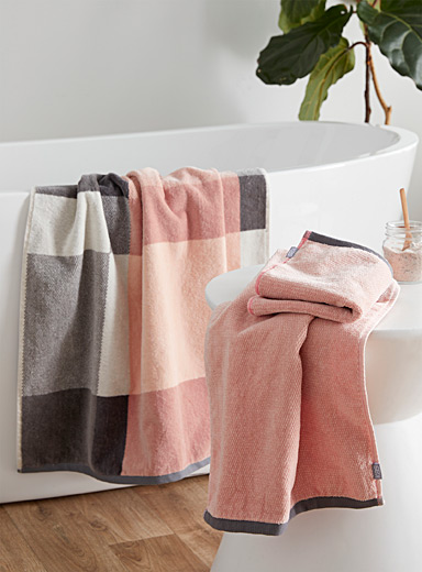 Blush pink pure cotton towels