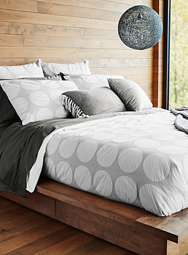 Geo disc duvet cover set