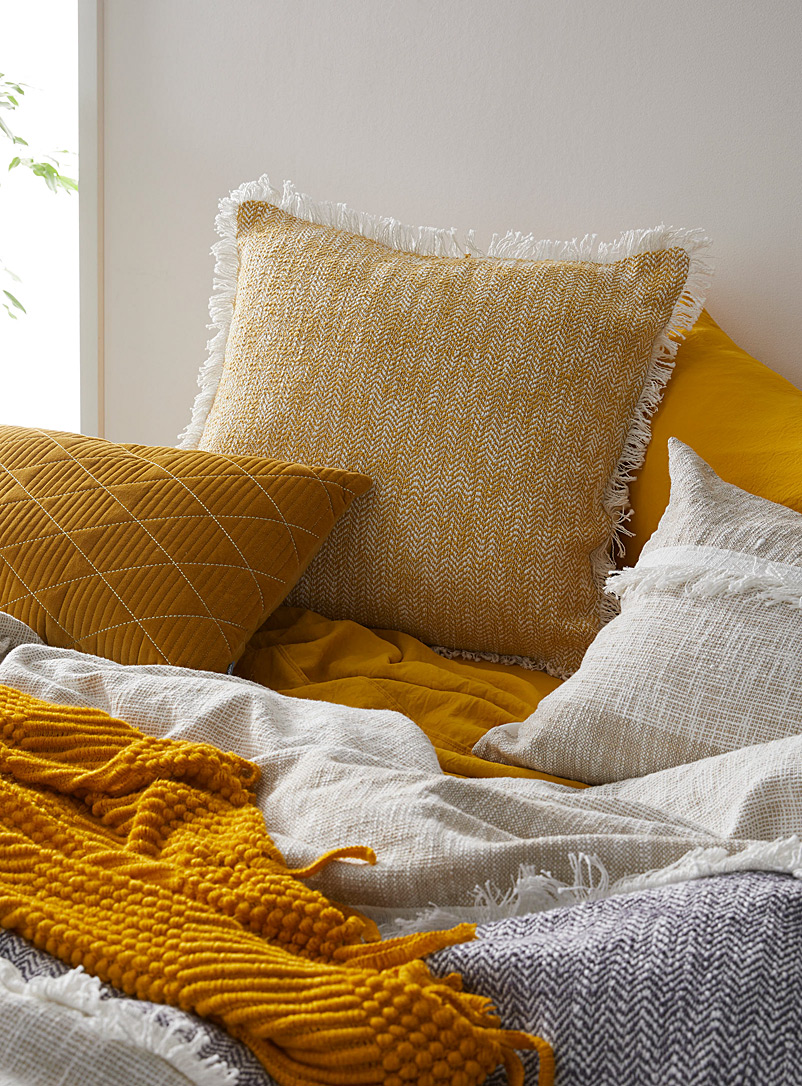Kas Australia Golden Yellow Exotic sheen Euro pillow sham
