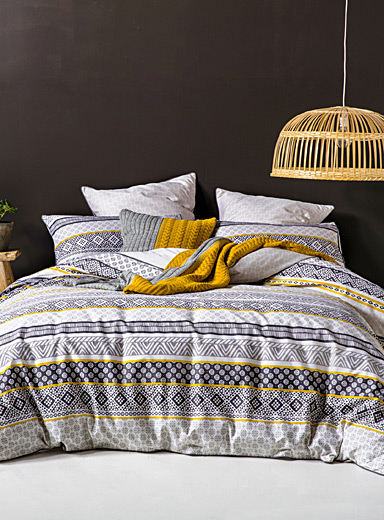 Kas Australia Black and White Modern stripes duvet cover set