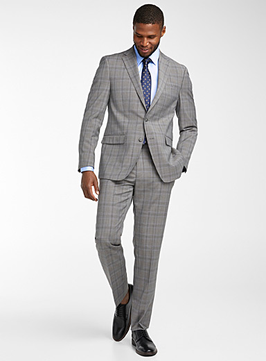 Engraved check Mabry suit  Slim fit