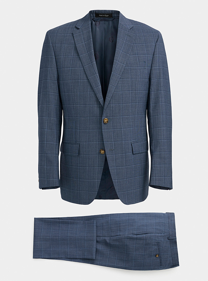 Lauren par Ralph Lauren Blue End-on-end Lofton check suit  Regular fit for men