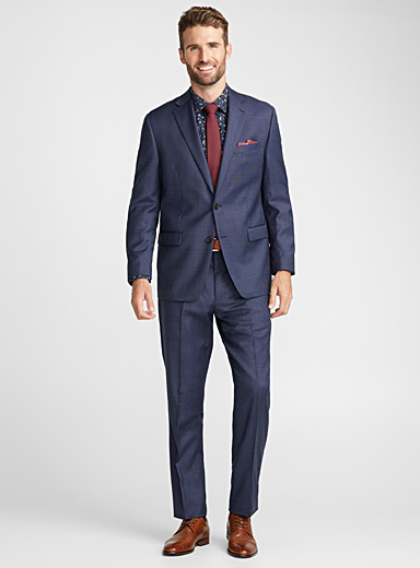Indigo end-on-end suit  Regular fit