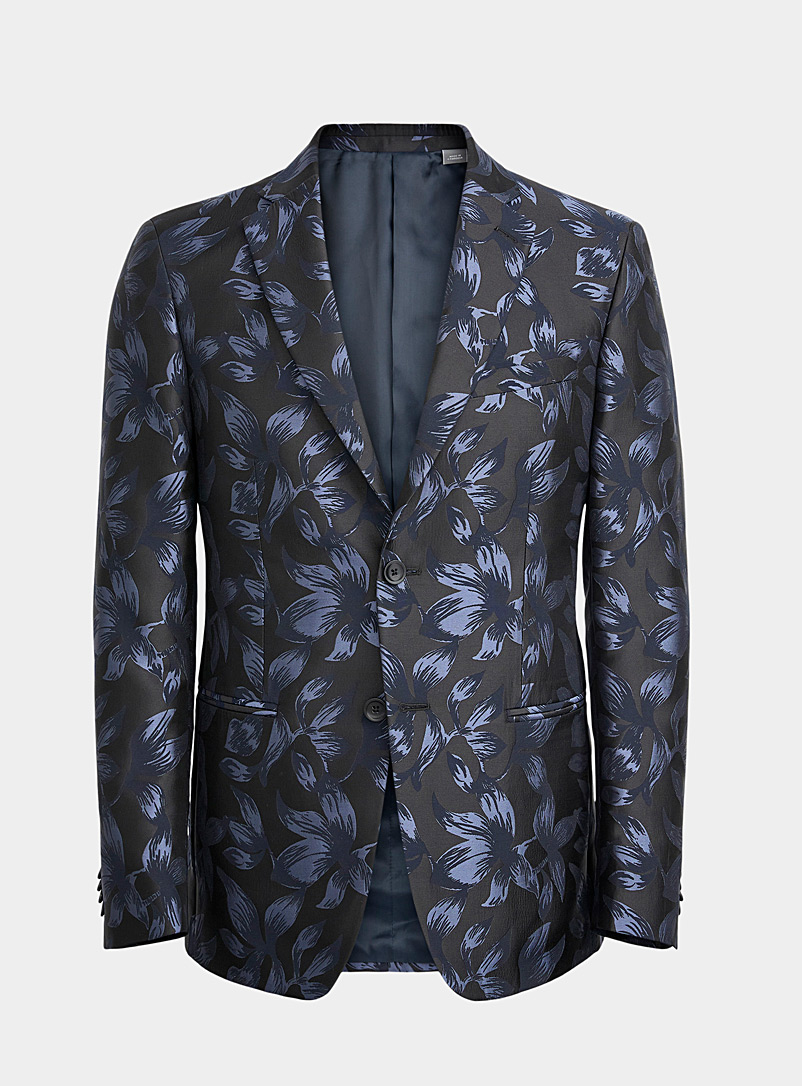 Michael Kors Dark Blue Indigo floral jacket Semi-slim fit for men