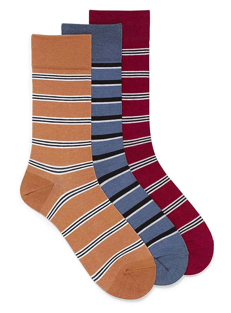Bamboo rayon striped socks  3-pack