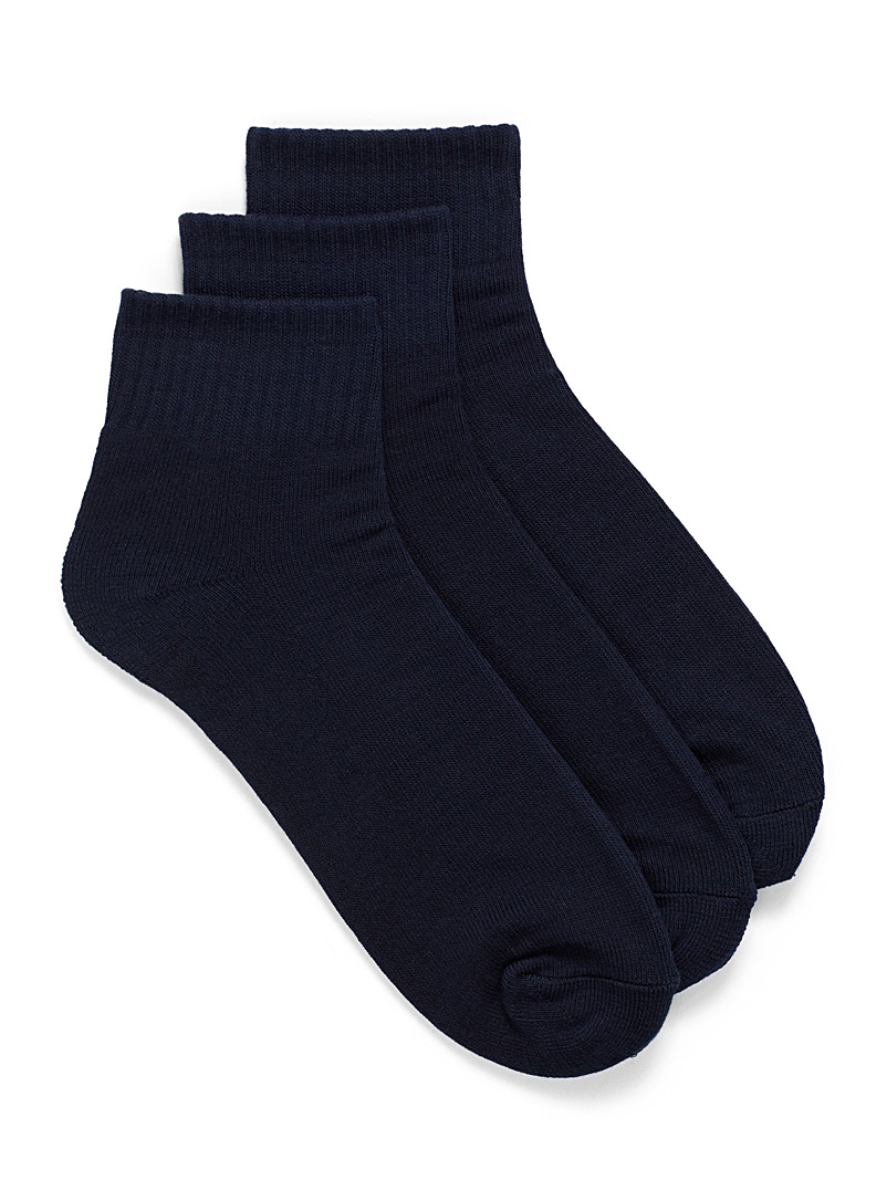 Ankle-high ped sock trio - Athletic socks - Dark Blue