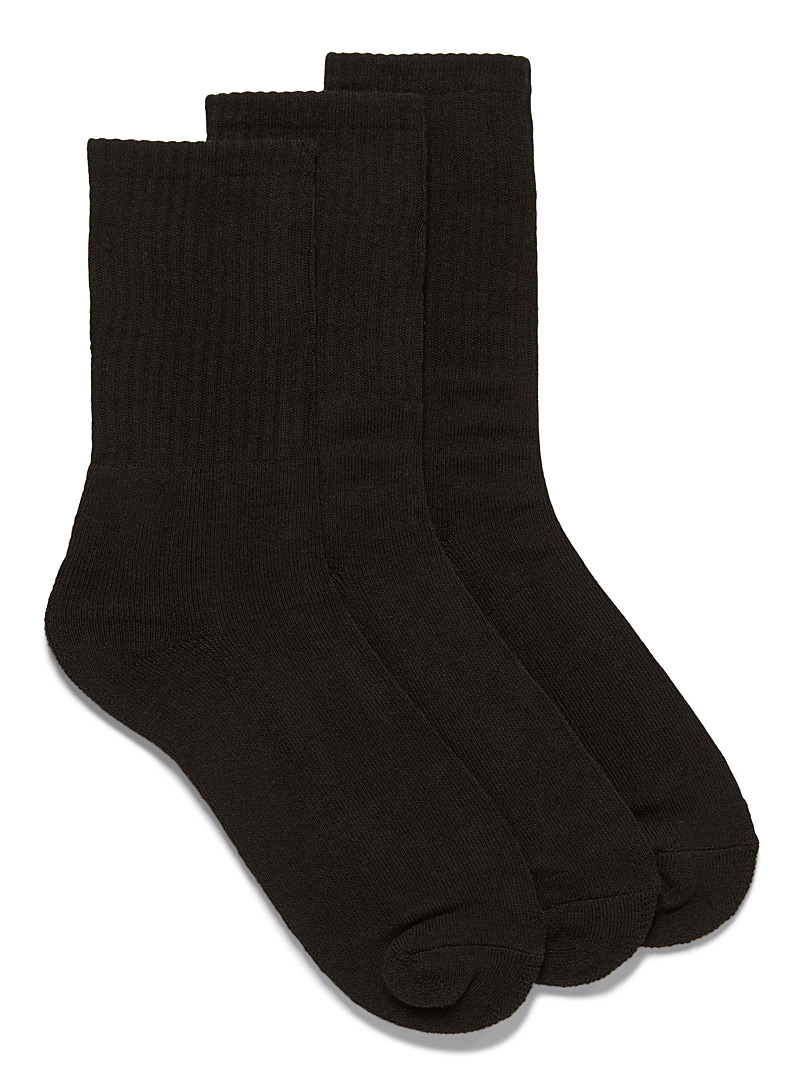 Le 31 Charcoal Organic cotton socks  3-pack for men
