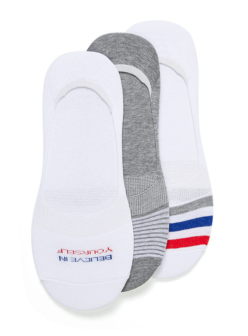 Practical ped sock 3-pack - Casual socks - Patterned White
