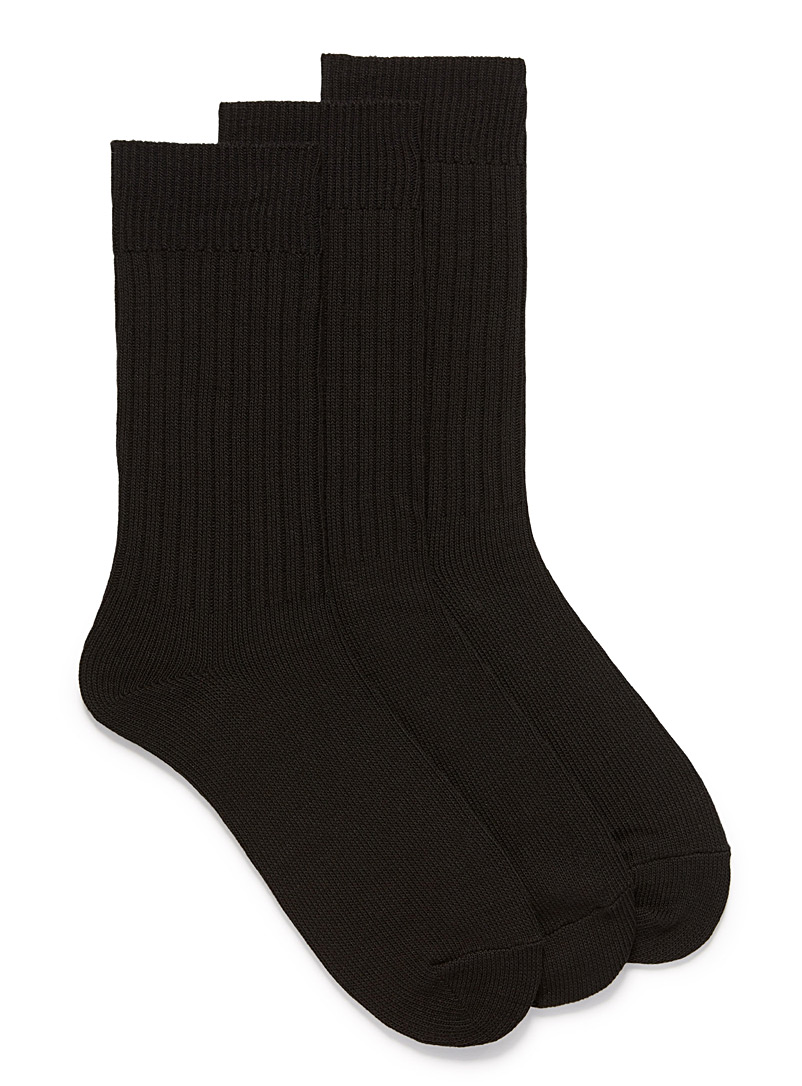 Ribbed cotton sock 3-pack