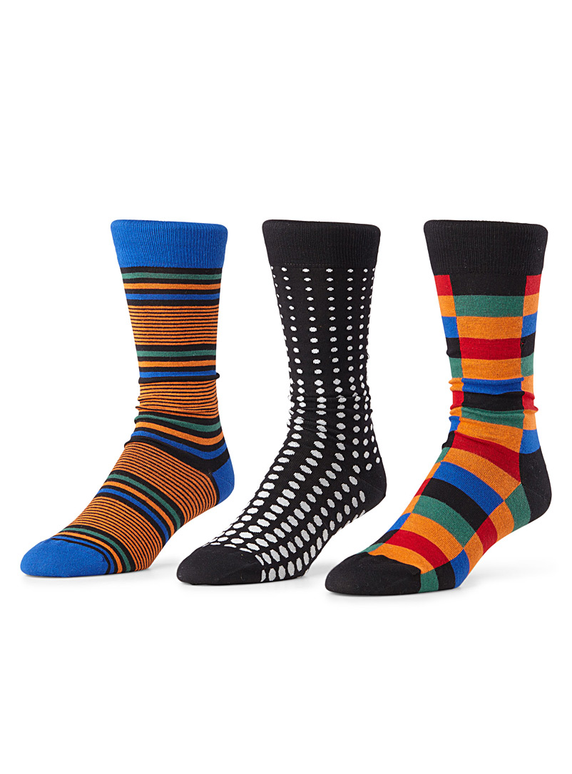 Bright graphic sock 3-pack
