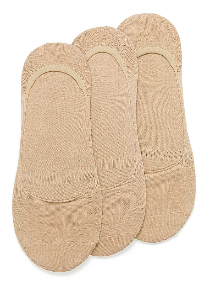 Practical ped sock 3-pack - Casual socks - Cream Beige