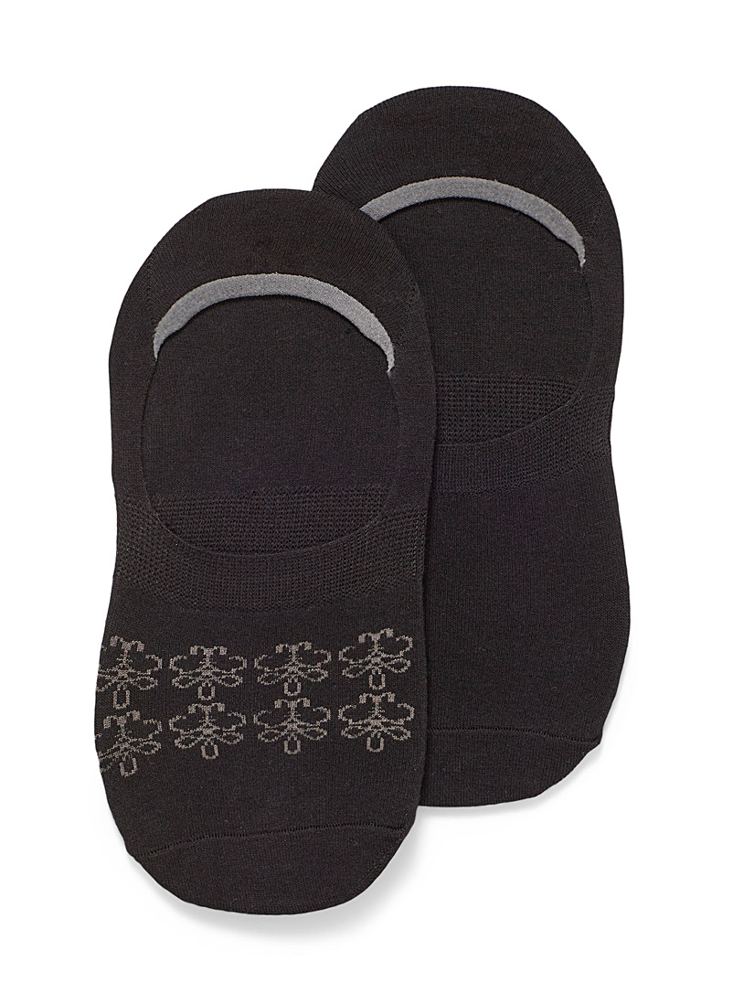 Simons Black Black foot liners Set of 2 for women