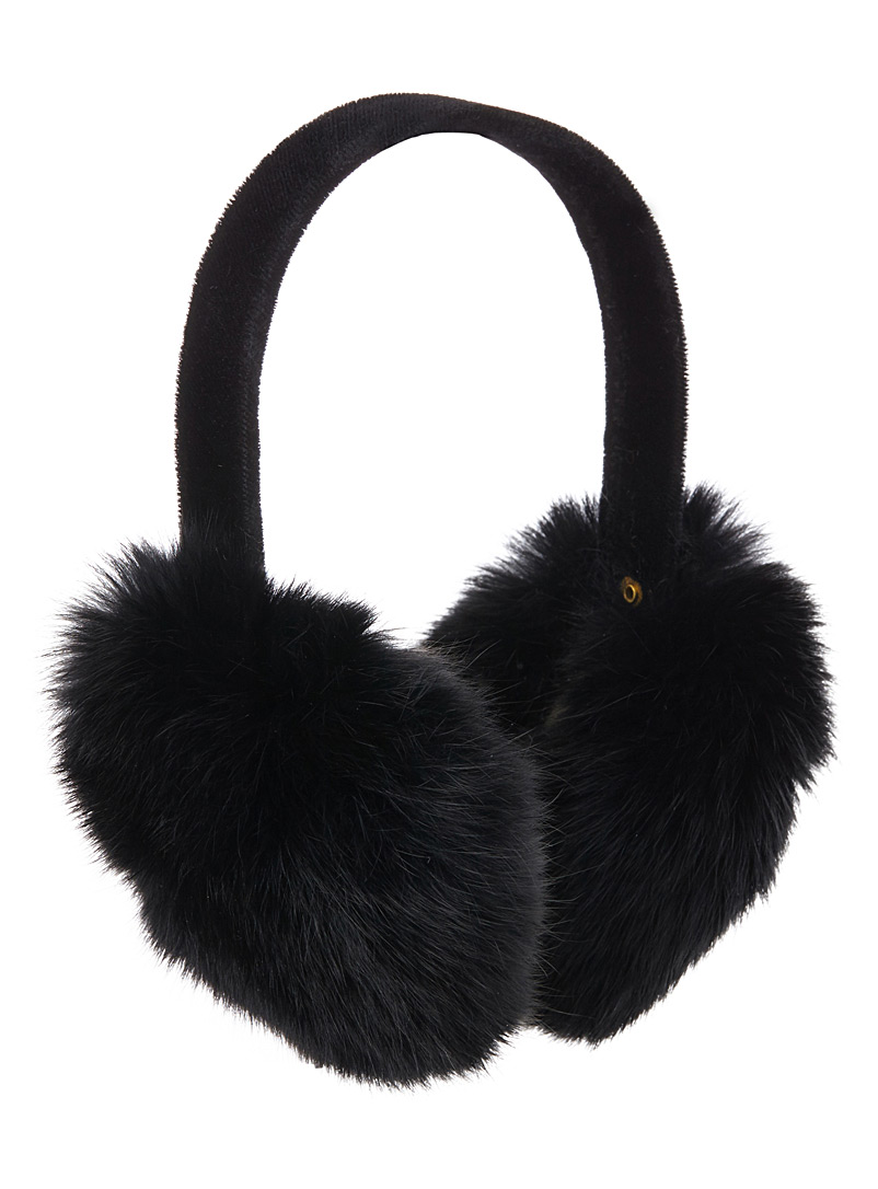 99571ab2 Rabbit fur earmuffs | Simons | Women's Tuques, Berets, and Winter Hats  online | Simons