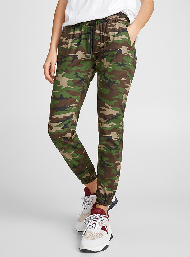Runner joggers - Joggers - Patterned Green