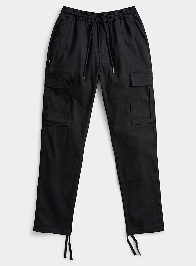 Fairplay Black Utility joggers for men