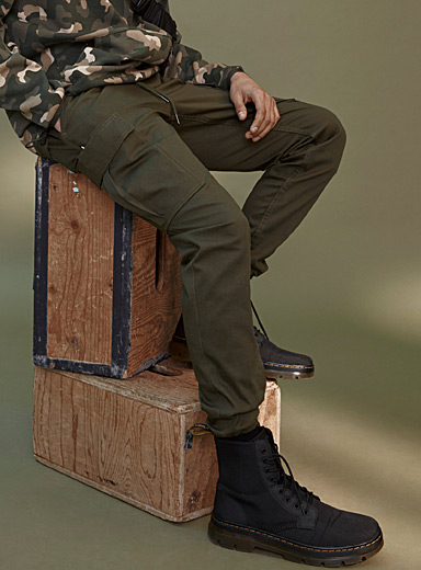 Fairplay Mossy Green Utility joggers for men