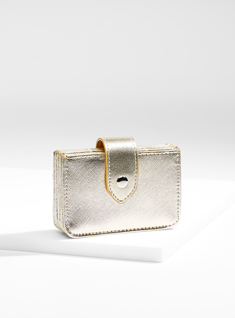 Glamourous shimmer card holder - Wallets - Gold