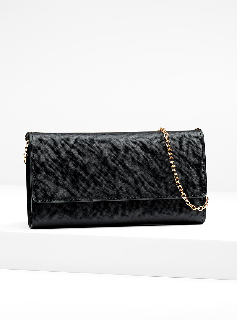 Clutch-style wallet - Clutches and Minaudieres - Black