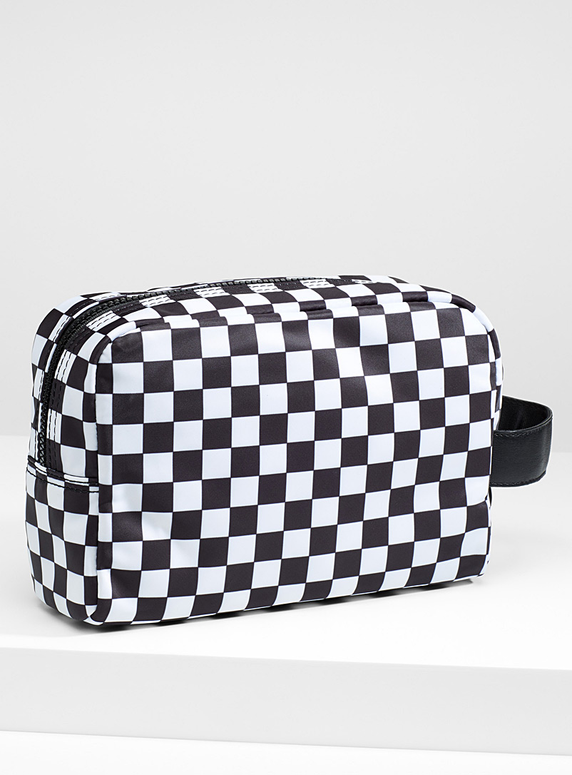 Nylon cosmetics case - Cosmetic Bags - Patterned Black