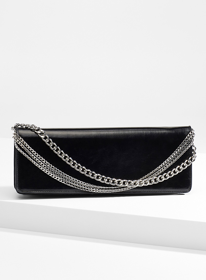 Chain evening clutch - Clutches and Minaudieres - Black