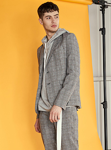 Glen check jacket  Slim fit