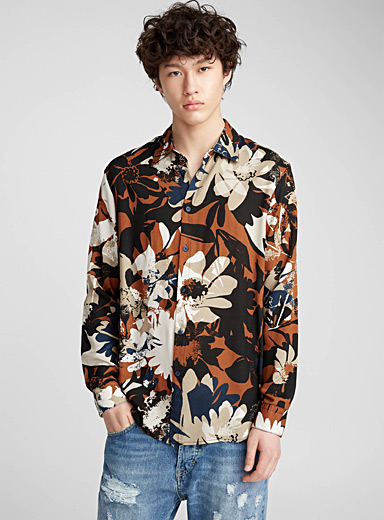 Natural flower fluid shirt