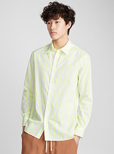 Neon stripe shirt <br>Semi-tailored fit