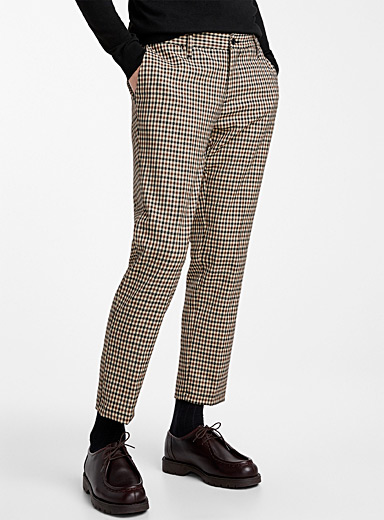 Le pantalon carreau vichy <br>Coupe ajustée