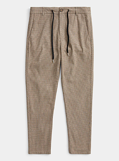 Cord waist gingham pant  Skinny fit