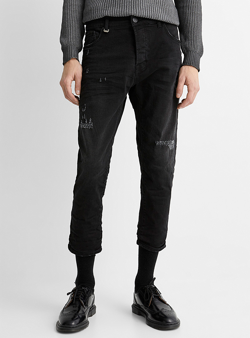 Imperial Black Worn black jean for men