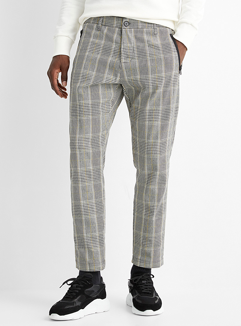 Modern Prince of Wales pant  Straight, slim fit