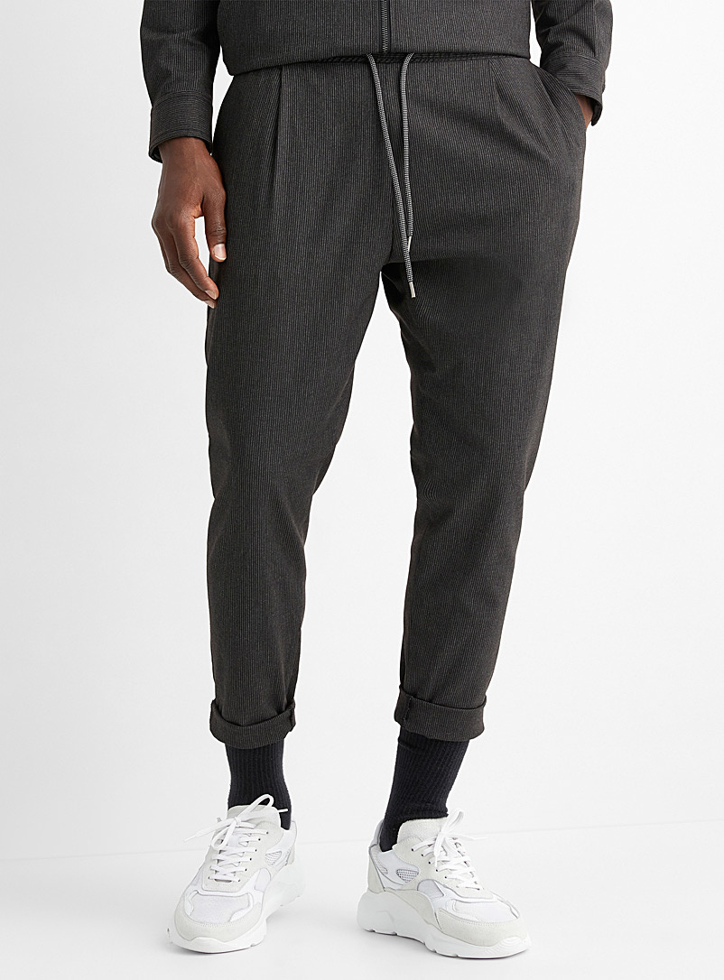 Monochrome stripe joggers  Straight fit