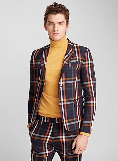 Primary check jacket  Slim fit