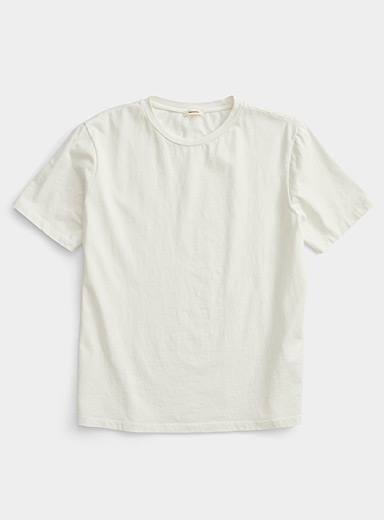 Imperial Ivory White Boxy minimalist T-shirt for men